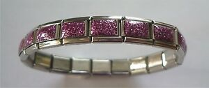 Italian Charms Charm Purple Glitter Starter Bracelet