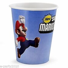 (8) SUPER MARIO BROTHERS 9oz PAPER CUPS ~ Birthday Party Supplies Luigi Nintendo