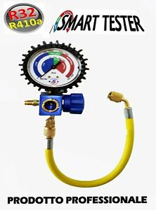 TESTER GRUPPO MANOMETRICO GAS R410A R32 TEST VERIFICA RICARICA CONDIZIONATORE CL