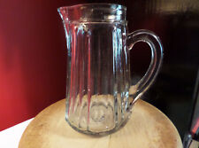 Anchor Hocking Glass Syrup Pitcher Depression era Missing Aluminum Lid
