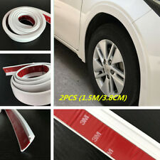 Universal White Rubber Car Fender Flare Wheel Eyebrow Trim Protector Lip 2pcs