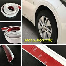 Universal White Rubber Car Fender Flare Wheel Eyebrow Trim Protector Lip 2pcs