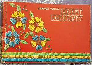 HAFT MODNY Jadwiga Turska   Paperback 1976   EMBROIDERY antykwariat