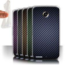 STUFF4 Gel/TPU Case/Cover for Motorola Nexus 6/Carbon Fibre Effect/Pattern