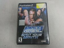 WWE Smackdown! Shut Your Mouth Playstation 2 PS2 Game & Case, No Manual