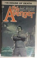 THE AVENGER #15 House of Death by Kenneth Robeson (1973) Warner pb