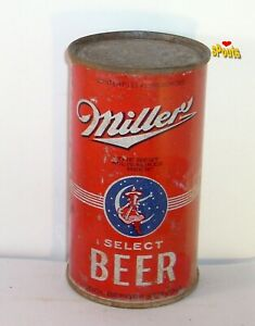 1940 RED MILLER SELECT IRTP O-I MOON GIRL FLAT TOP BEER CAN MILWAUKEE,WISCONSIN