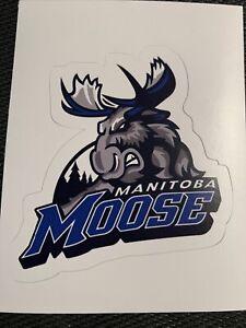 """Manitoba Moose Sticker Minor Hockey AHL Winnipeg Jets 3"""" x 2.8"""""""