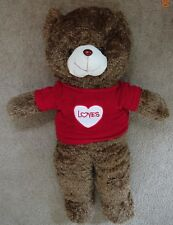 """NEW molity  Dark Brown with Love red Sweater Sweatheart Giant Teddy Bear 39"""""""