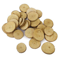 1X(Wood Log Slices Discs 30pcs 3-4CM for DIY Crafts Wedding Centerpieces P4Z5 SM