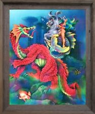 Underwater Mermaid and Whale Magical Delight of Life Fantasy Wall Framed Picture