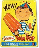 Wow Twin Pop Ice Cream Vintage Ice Cream Metal Decor Sign