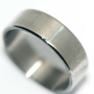 smooth stainless steel silver band ring for womens mens little finger ring size5