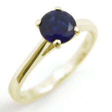 Ring Diamond Unique Solitaire Sapphire 9ct Gold 1.5ct Engagement Ring