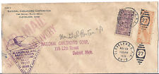 1938 US Cover, National Air Mail Week - Cleveland to Detroit - Special Delivery