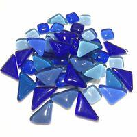 Blue Crystal Irregular Glass Mosaic Tiles For Crafts Pieces Arts DIY Hand 50pcs