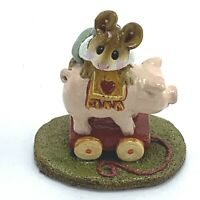 Wee Forest Folk Miniature Figurine High on the Hog M 186 1992