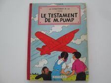JO ZETTE ET JOCKO B20bis 1957 ETAT BE/TBE LE TESTAMENT DE M. PUMP