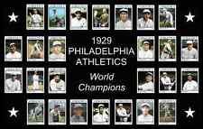 *NEW* 17x11 Philadelphia Athletics 1929 World Series Custom Baseball Card Poster