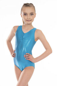 Essential Girls Gymnastics Leotard Metallic Foil Kids Sparkle ideal for Dance