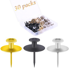 30 Pcs Push Pins Picture Hanger Hooks Double Headed Nails Push Pin For Wall Han