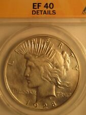 >RARE> 1928-s  PEACE SILVER DOLLAR,  ANACS GRADED  EF40 COIN, WOW..Great TONES