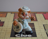 Vintage Tiger Sailor with Life Saver Figurine Ceramic