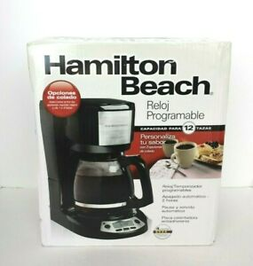 NEW FACTORY SEALED HAMILTON BEACH 12 CUP PROGRAMMABLE CLOCK COFFEE MAKER #49615