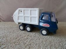 VINTAGE SMALL TONKA GARBAGE SANITARY SERVICE TRUCK BLUE-WHITE