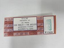 Bob Marley The Wailers 1979 Concert Ticket Unused Denver Univ Arena Vintage