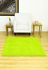 Modern thick super soft Shaggy rug 120x160cm -Vibrant/Flurescent Green-R38G