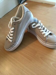 Ladies Taupe Thick Sole Trainers Size 6 Primark BN