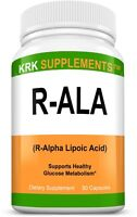 R-ALA R-Alpha Lipoic Acid 200mg Antioxidant Blood Sugar Formula Glucose Support