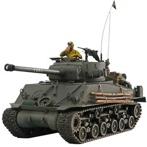 HOOBEN 1:10 US FURY M4A3E8 Sherman Brad Pitt Medium Tank RTR Half Metal Assemble