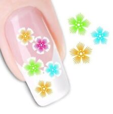 Water Transfer Nail Stickers Fingernail Decals DIY Flower Art Decoration