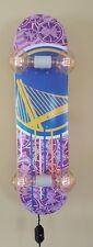 Golden State Warriors Skateboard Light - Skateboard Lamp NBA LAB Shut Oakland