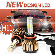 H11 LED Headlight 6000K 2018 1280W 192000LM 4-Side Kit Low Beam Bulbs High Power