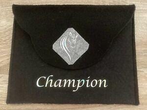 """Pferdepasstasche """"Champion"""" schwarz/hellgrau"""