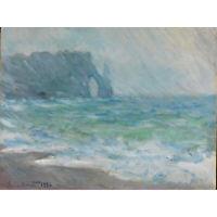 Claude Monet Regnvaer Etretat Extra Large Art Poster