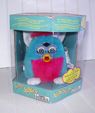 Furby Babies 1999 Pink & Blue Electronic NEW In Box Hasbro Model 70-940R