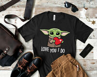 Baby Yoda Love You I Do T Shirt 2021 Valentines Day Couple Gift Tee For Men