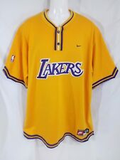 Vintage Nike Los Angeles LA Lakers Game Warm Up Pullover Jersey Shirt Sz XL