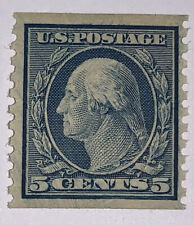 Travelstamps: 1916-1922 US Sc#496 MINT OG NH 5c, 1919 GEORGE WASHINGTON ISSUE