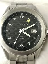 ANDROID AD341 Stainless Steel Date Swiss Watch GMT 100M