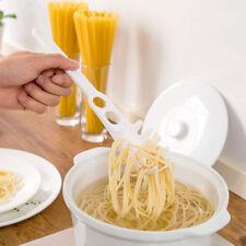 Spaghetti strainer fork measure portion sieve egg or folk pick up white drainer
