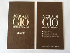 Carte parfumée Aqua De Gio Absolu de Giorgio Armani