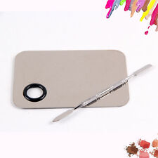 Stainless Steel Cosmetic Foundation Tool Pro Makeup Tool Mixing Palette Kit