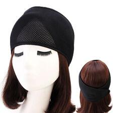 Womens Unisex Luxury Adjustable Double Foam Mesh Head Wrap Headband Solid Color