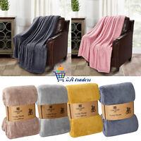 King Soft Warm Fleece Cuddly Teddy Throw Sofa Bed Camping Blanket Fine Quality