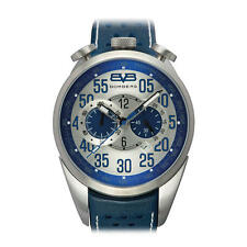 NEW BOMBERG 1968 CHRONOGRAPH DATE BLUE LEATHER MEN'S WATCH NS39CHSS.SI0.3.LBU